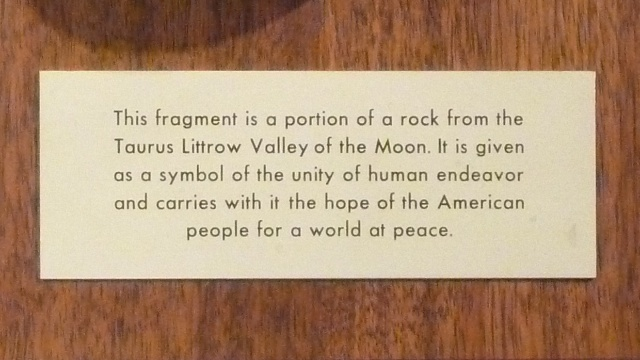 Plaque Apollo 17 tag 1