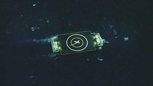 Drone spaceport ship heads to it's hold position in the Atlantic t prepare for rocket landing (Elon Musk on twitter)