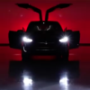 Tesla model X on stage