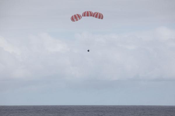 CRS-4 Dragon landing