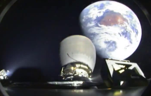 Falcon9 2nd stage, carrying DSCOVR with Earth in background